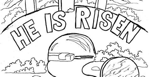he is risen coloring page coloring pages for by mr adron easter coloring page