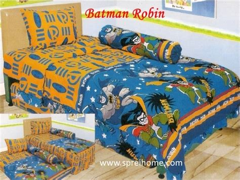 Seprei Set Batman Uk120x200x20 jual bedcover set sprei dan bedcover