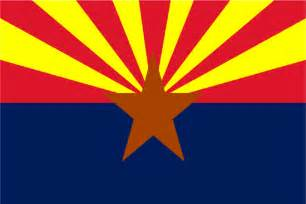 arizona colors flags of the fifty states arizona