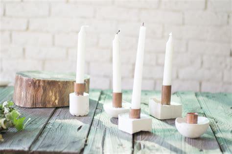 candelabros de yeso candelabros yeso y cobre diy handbox craft lovers