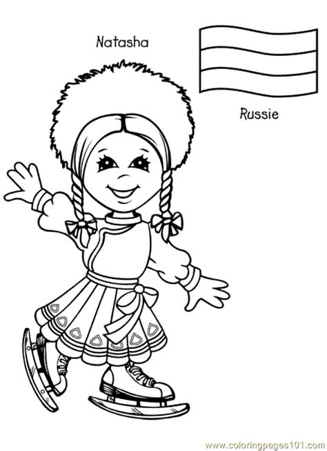 Free Printable Coloring Page Kids From Around The World Free Printable Around The World Coloring Pages