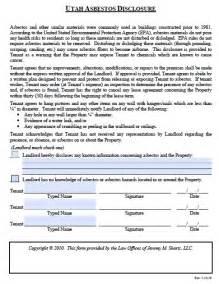 free utah asbestos disclosure form