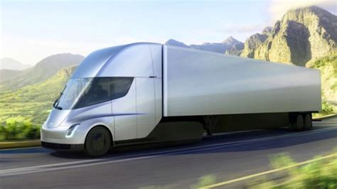 elon musk launches all electric tesla semi truck and