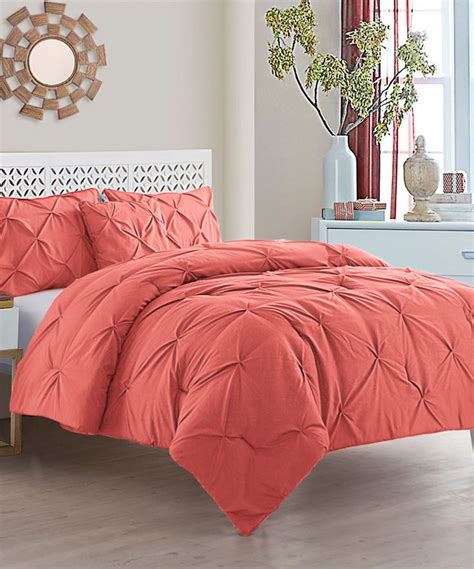 another comforter another great find on zulily coral carmen four piece