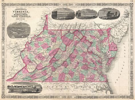 map maryland and west virginia file 1866 johnson map of virginia west virginia maryland