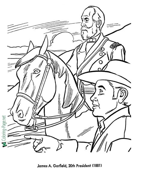 us presidents coloring pages james garfield