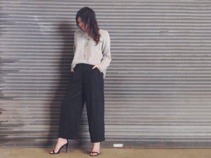 Celana Culottes Kulot Fit To L bingung mencari atasan yang cocok untuk celana kulot
