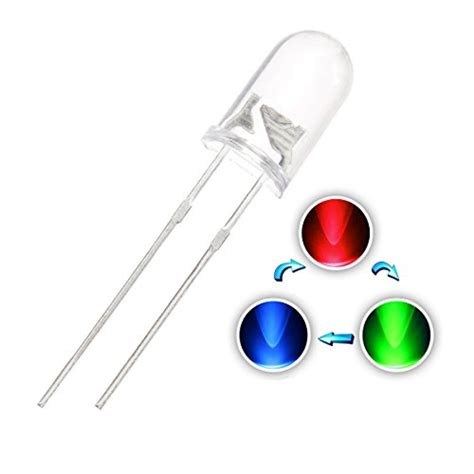 Led Rgb Fast 3mm Diode Ultra Bright Through Clea chanzon 100 pcs 5mm rgb multicolor multi color changing dynamics led diode