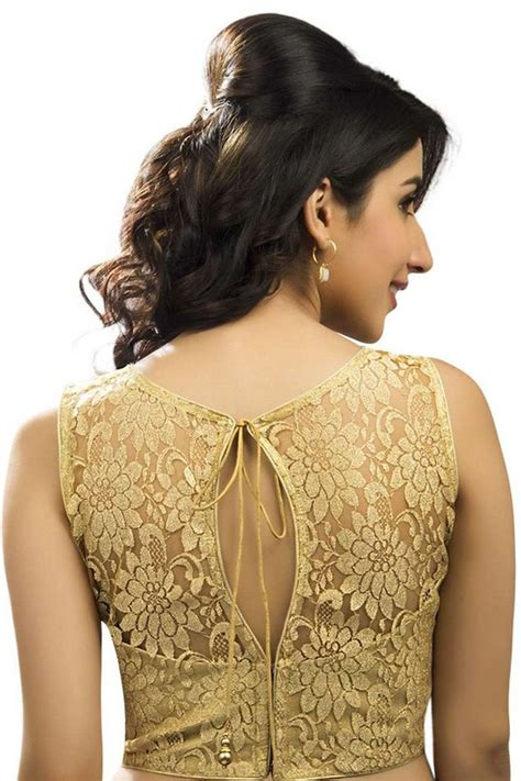 haircut designer online gold lace blouse self embossed designer wear with
