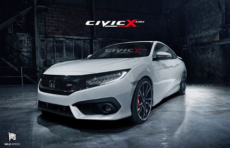 honda civic 2016 si 2016 civic si coupe accurately rendered but is there a