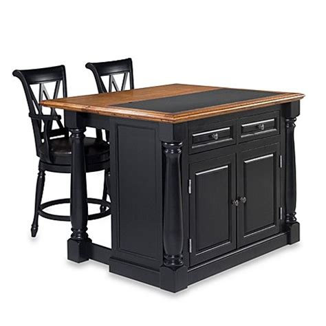 home styles monarch kitchen island with granite top 5021 94 buy home styles monarch 3 piece kitchen island with