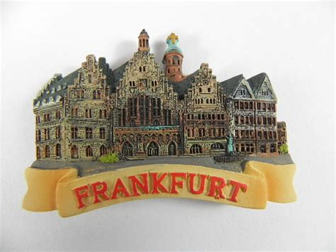 Souvenir Germany Magnet Kulkas Germany magnet frankfurt romans souvenir germany relief poly new ebay