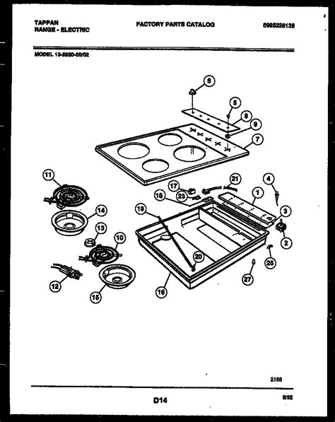 tappan cooktop replacement parts tappan countertop range electric 5995228136 cooktop