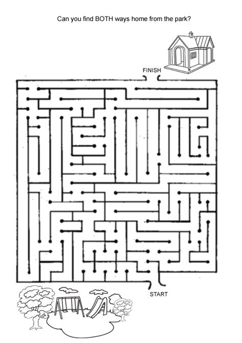 printable hidden picture mazes free online printable kids games find the way home maze