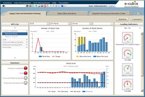 e cubix executive dashboard