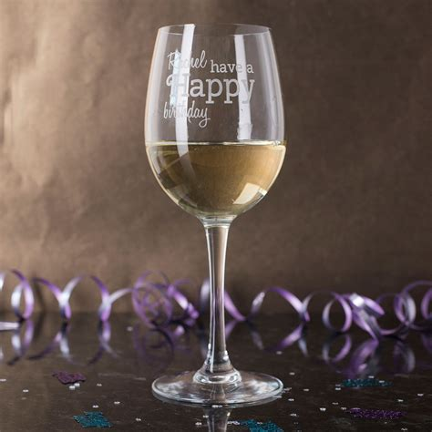 Personalised Wine Glass Happy Birthday Gettingpersonal
