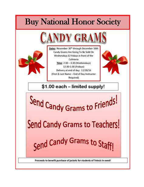 Candy Gram Flyer Template
