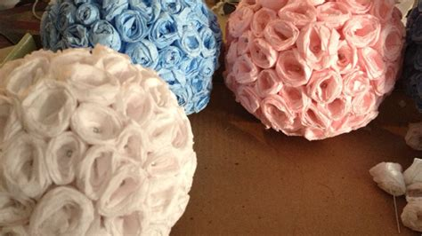 crepe paper flower ball tutorial how to make elegant crepe paper flower balls diy crafts