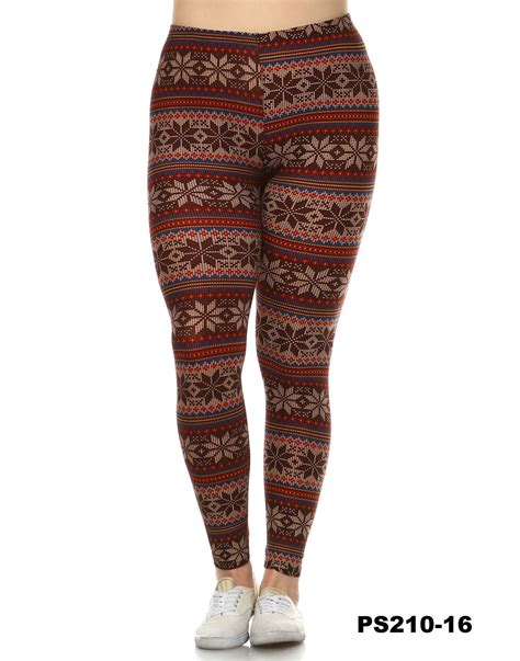 plus size patterned leggings groopdealz women s plus size printed leggings 6 styles