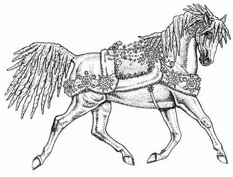 coloring pages of carousel horses carousel horses coloring pages coloring home