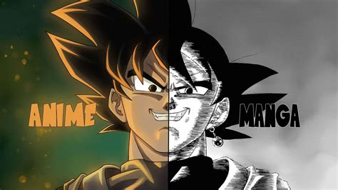 every difference in the dragon ball super manga youtube