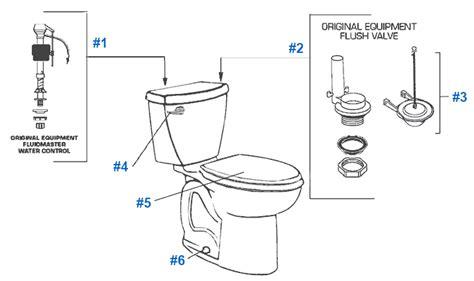 toilet guts diagram american standard toilet repair parts for cadet series toilets