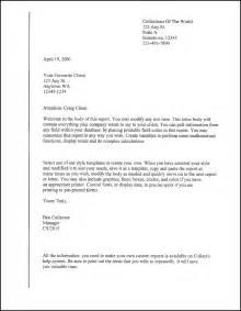 Form Letter Template client letter template sles