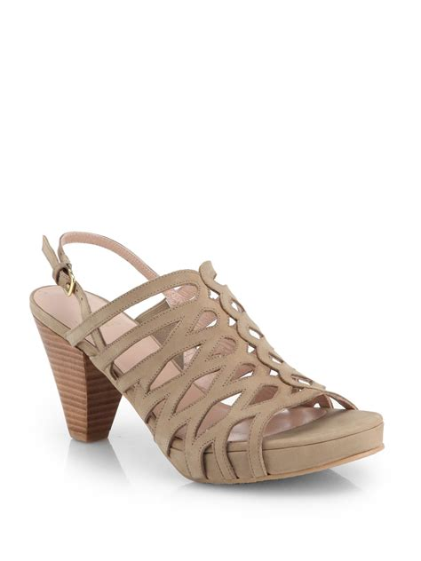 strappy sandals stuart weitzman rollover strappy high heel sandals in