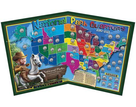 quarter map national parks quarter map quarter maps coins of america
