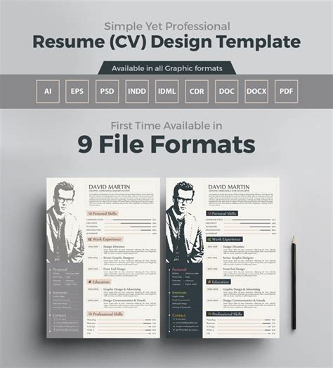 10 newest free premium resume templates for graphic web designers