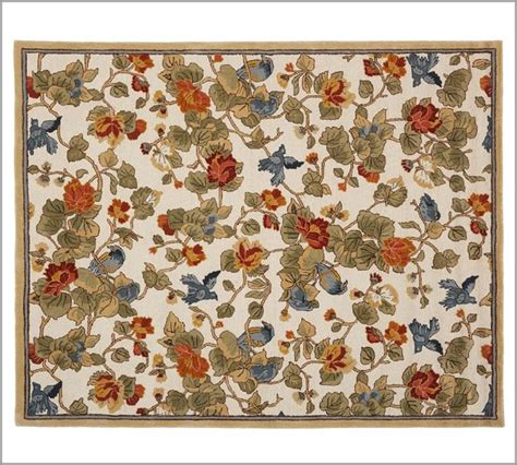 Rugs With Birds by Bird Floral Rug Traditional Rugs By Pottery Barn