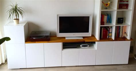 Top Of Kitchen Cabinet Decor Ideas tv unit from ikea metod kitchen cabinets ikea hackers