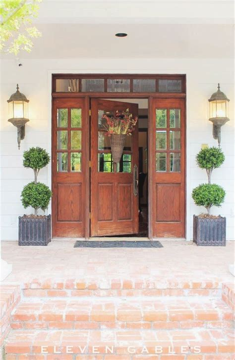 Front Door With Source To Buy These Gorgeous Faux Front Door Topiary