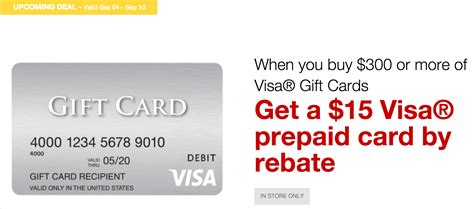 visa gift card fine print staples get 15 visa rebate card with 300 visa gift card