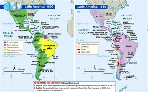 american movement 1830 map answers spain causes of independence movements dominigu