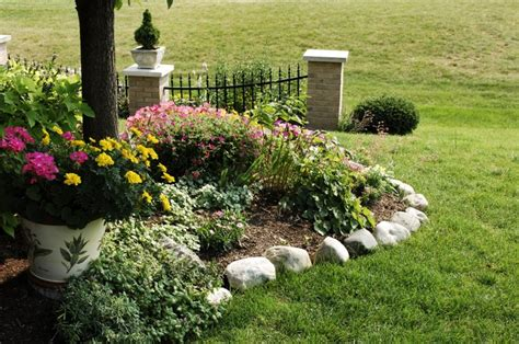 Rock Borders For Gardens Outdoor Gardening Trendy Rock Flower Bed Borders 2013