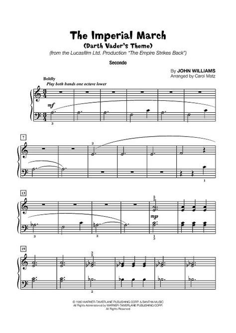 tutorial piano duet imperial march darth vader s theme late elementary