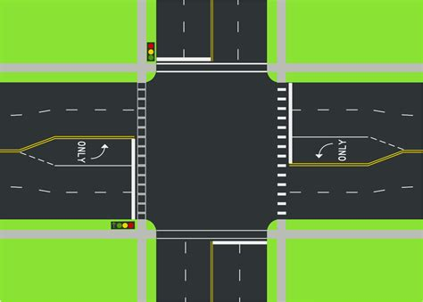 traffic intersection diagrams file intersection diagram svg wikimedia commons