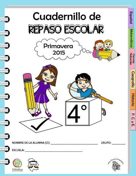 actividades de ciencias para primer grado cuadernillo de repaso escolar para el cuarto grado