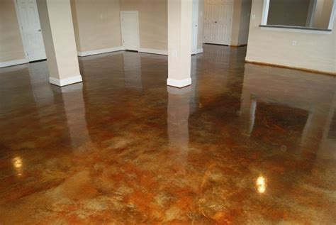 stained concrete in basement pictures for shorecrete coatings llc in denton md 21629