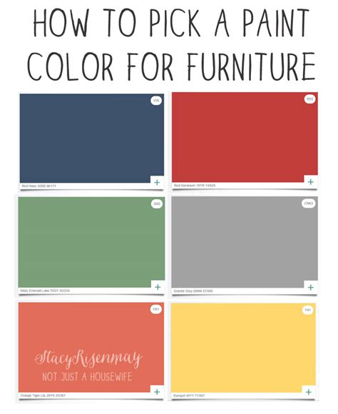 how to pick a paint color how to pick a paint color for furniture not just a housewife
