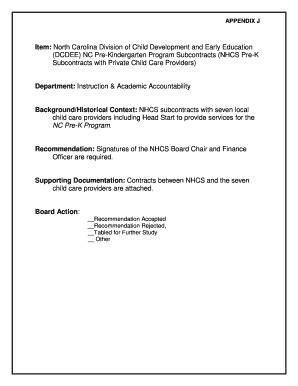 fillable online nhcs item north carolina division of child