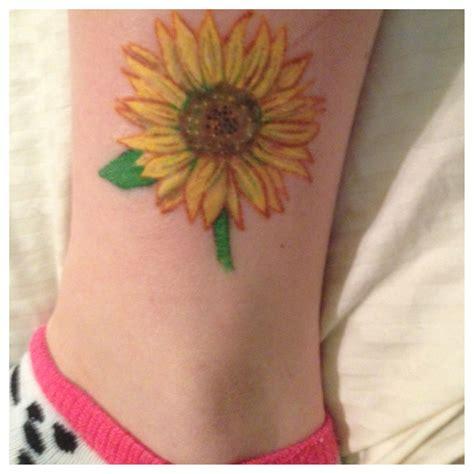 body canvas tattoo my sunflower canvas
