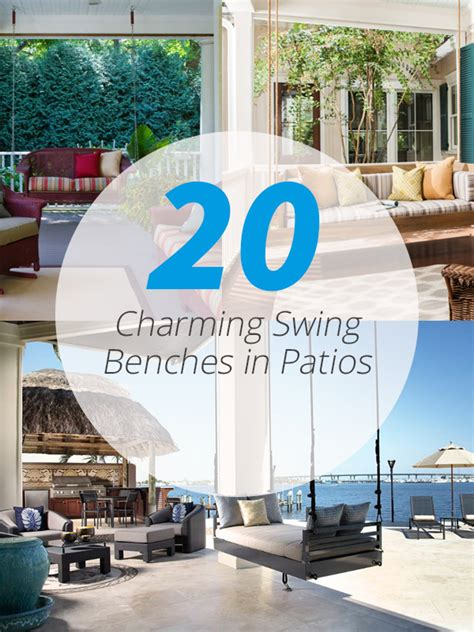 porch swings atlanta 20 charming swing benches in patios home design lover