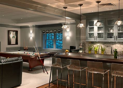 modern contemporary basement design build remodel modern 27 basement bars that bring home the good times