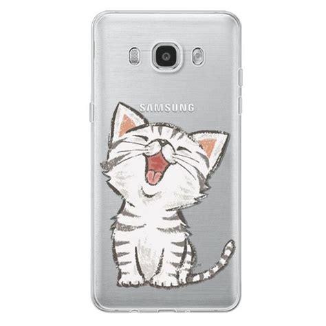 Samsung J510 J5 2016 3d Kawaii Bowtie Cat 1 Silicone cat design coque for samsung galaxy s3 s4 s5 s6 s7