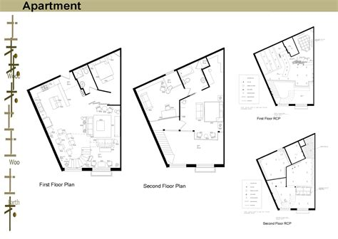 mixed use floor plans three sle units in a mixed use building by kay he at