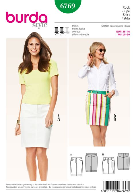 skirt pattern burda burda 6769 burda style skirts sewing pattern