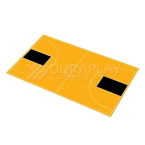 dura play duraplay 51 ft x 83 ft 11 in yellow and black court basketball kit fcbb 13f