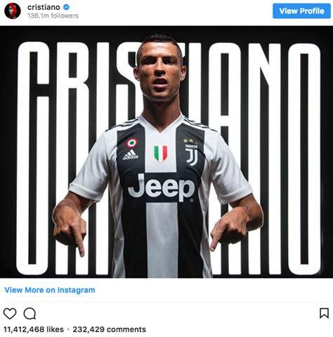 ronaldo juventus top tin ronaldo nhập juventus v 224 o top 5 lượt quot like quot khủng nhất tr 234 n instagram